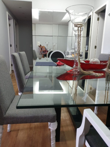 Vendo mesa de vidro com pé em laca - Foto 5