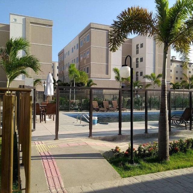 APT 128, Messejana, apartamento novo no 1º andar com 02 quartos, piscina - Foto 7