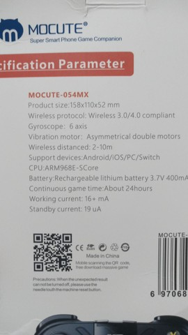 Gamepad Mocute (Controle Wireless)