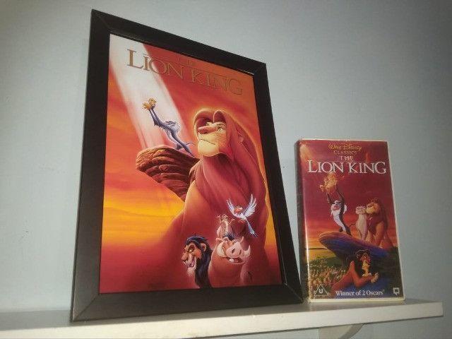 Quadro O Rei Leão + Caixa Vhs