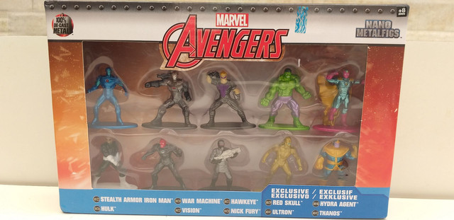 BONECOS marvel advengers nano metalfigs