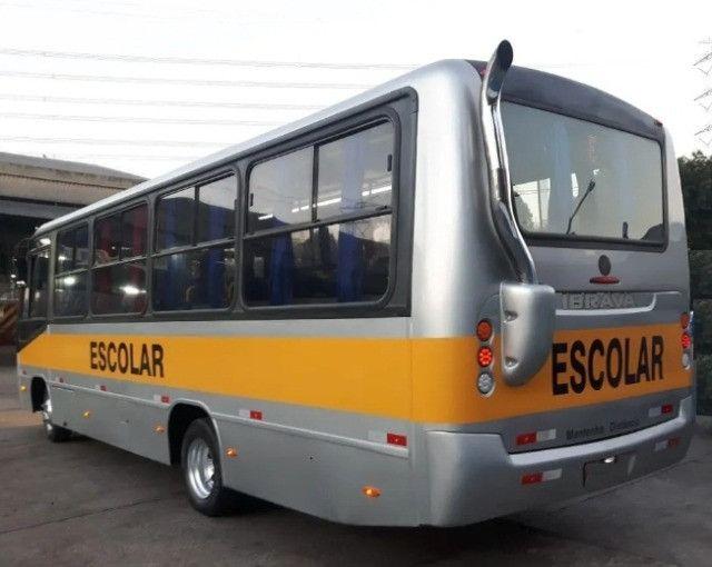 Micro Ônibus Ibrava Escolar Prata 51 Lugares. - Foto 3
