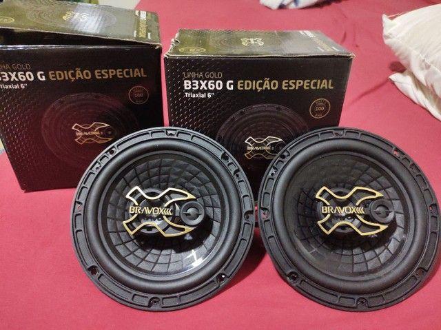 Auto falante bravox B3X60 G triaxial 6