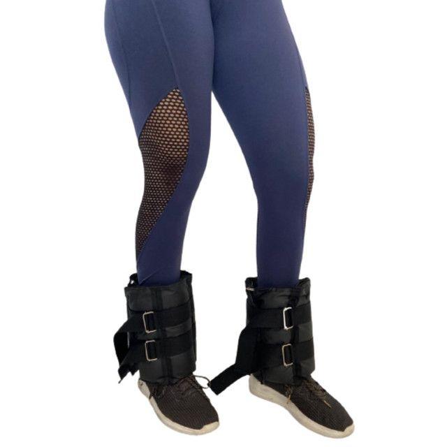 Caneleiras ajustáveis peso tornozeleiras  - Foto 2