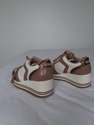 Tênis Dakota branco & marrom - Foto 3