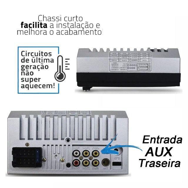 Central Multimídia Mp5 2 din Bluetooth/USB/Espelhamento - Foto 2