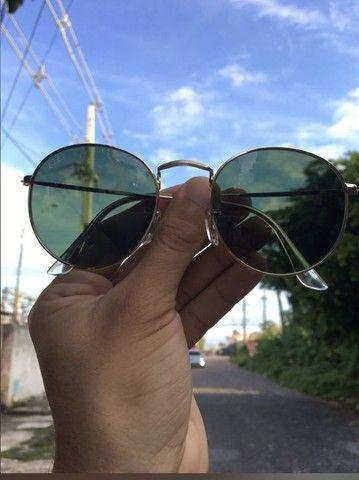 Óculos de sol Round Redondo Vidro - Foto 3