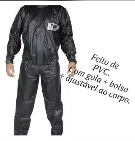 Capa De Chuva Pantaneiro Pvc Com Bolso Impermeável - Foto 4