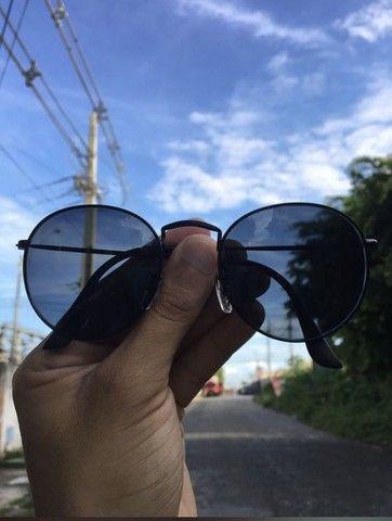 Óculos de sol Round Redondo Vidro - Foto 2