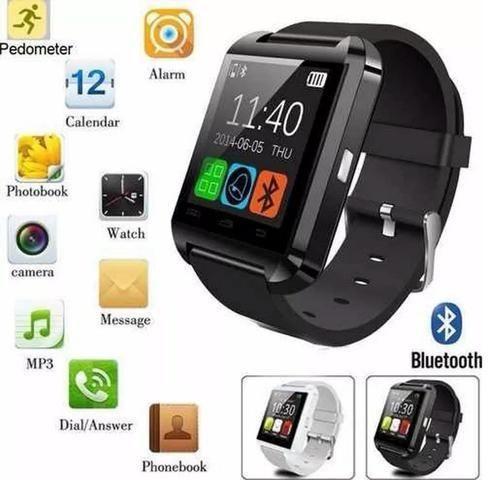 Relógio smartwatch Bluethooth U8 inteligente