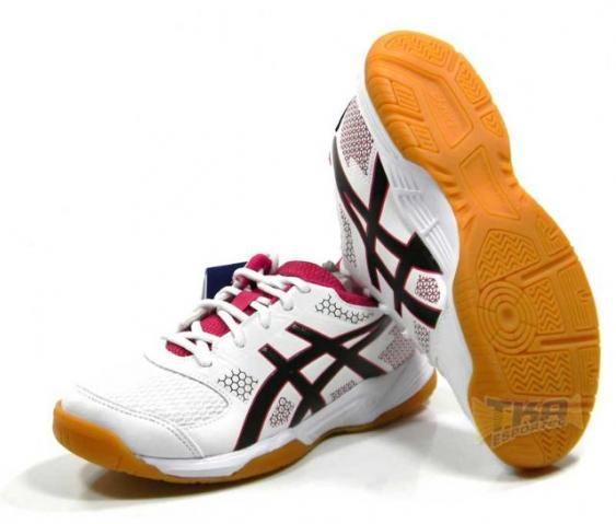4bfcada74 Tenis Asics Gel Rocket 8 Feminino bco rosa pto tam  34 39 - Esportes ...