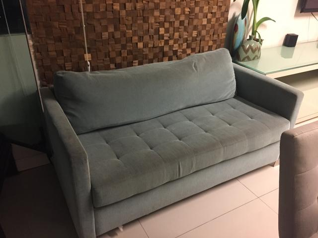 Sofá azul da novo projeto