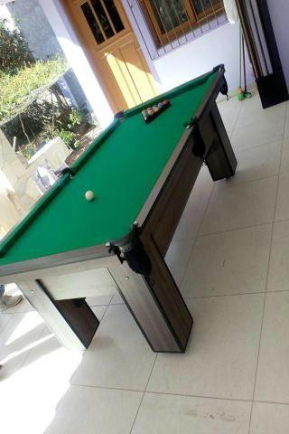 Mesa de Sinuca e Bilhar Cor Dakar Tecido Verde Mod. DYIU9778 - Foto 3