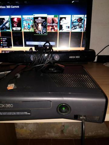 Xbox 360 desbloqueado kinet controle aceito cartao