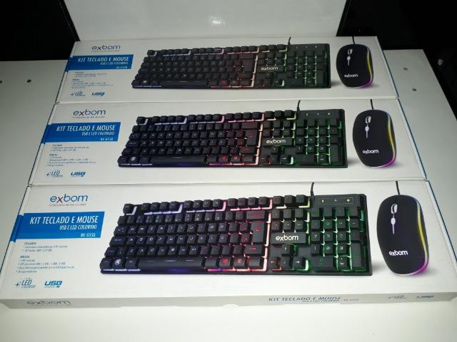 KIT Gamer Teclado e Mouse USB e LED Colorido Exbom BK-G550 - Foto 6