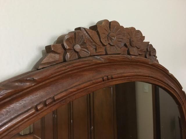 Espelho em madeira maciça ANTIGUIDADE - Foto 3