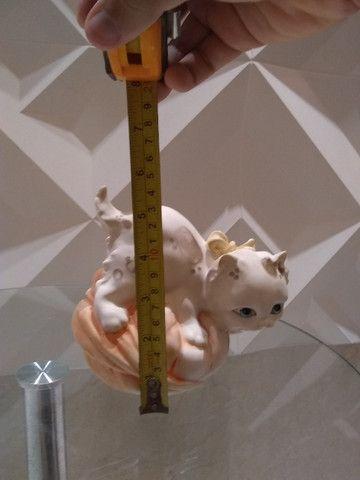 Lindo gatinho decorativo em resina italiana - Foto 4
