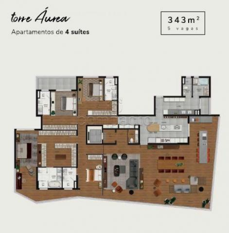 Apartamento à venda com 4 dormitórios em Iguatemi, Sao jose do rio preto cod:V10705 - Foto 18