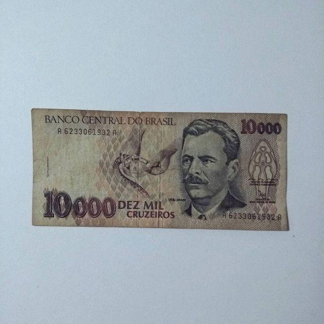 Nota Cédula Dez Mil Cruzeiros - Foto 2
