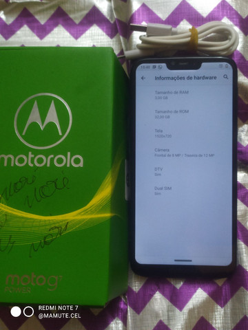 Smartphone Motorola Moto G7 Power Azul de 32+03 GB com TV Digital - Foto 2