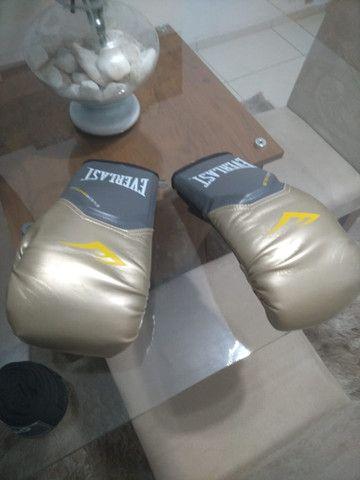 Luva Nova de boxe Everlast + Bandagem Vollo + Bolsa Original - Foto 4