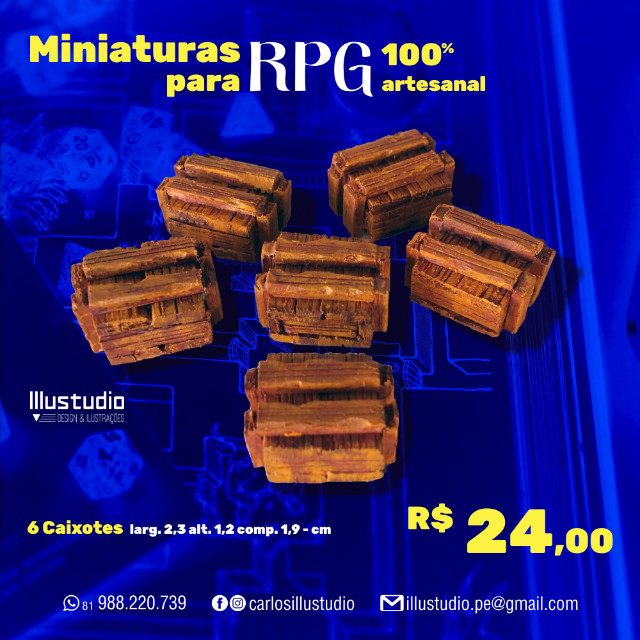Miniaturas RPG 100% Artesanal - Madeira - Foto 4