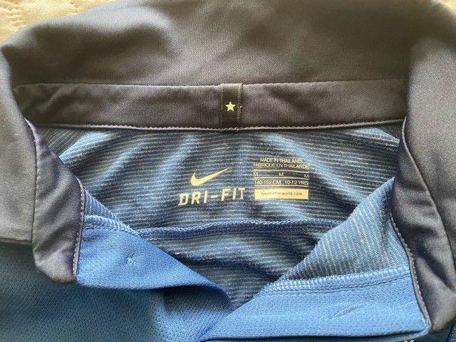 Camisa Oficial Nike (12 anos infantil) - Seleção França  - Foto 3