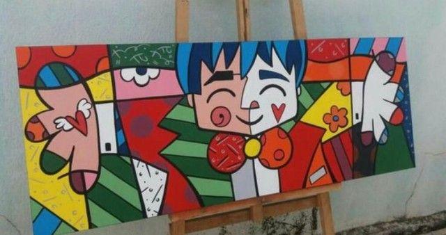 Quadro pintura estilo pop arte