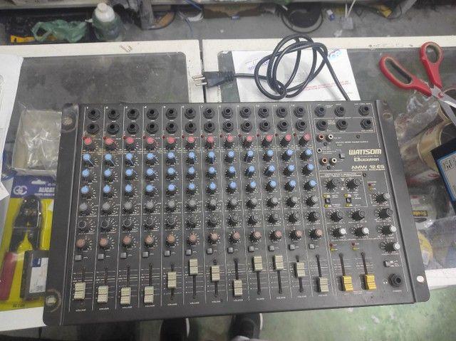 Kit com mesa 12 canais , 2 caixas , uma potência, cabos e um microfone  - Foto 4