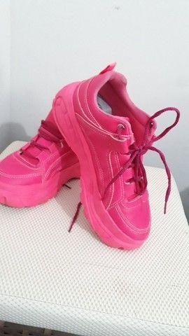 Tênis rosa número 38 - Foto 2