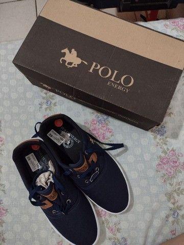 Tênis Azul Polo Energy
