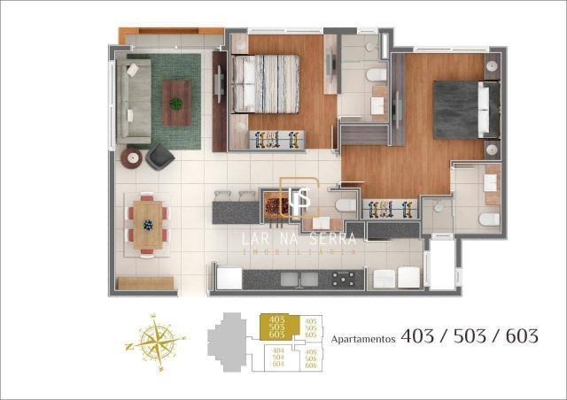 Apartamento à venda, 107 m² por R$ 728.260,47 - Lagos Do Bosque - Gramado/RS - Foto 17