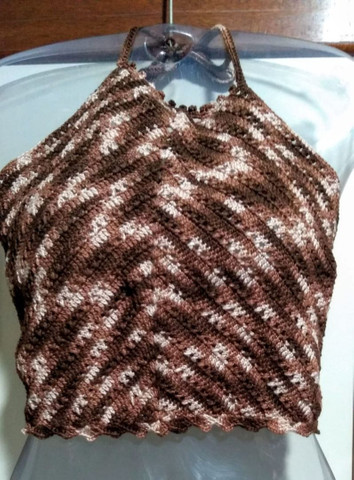 Cropped de Crochê Frente Única com Bojo   - Foto 3