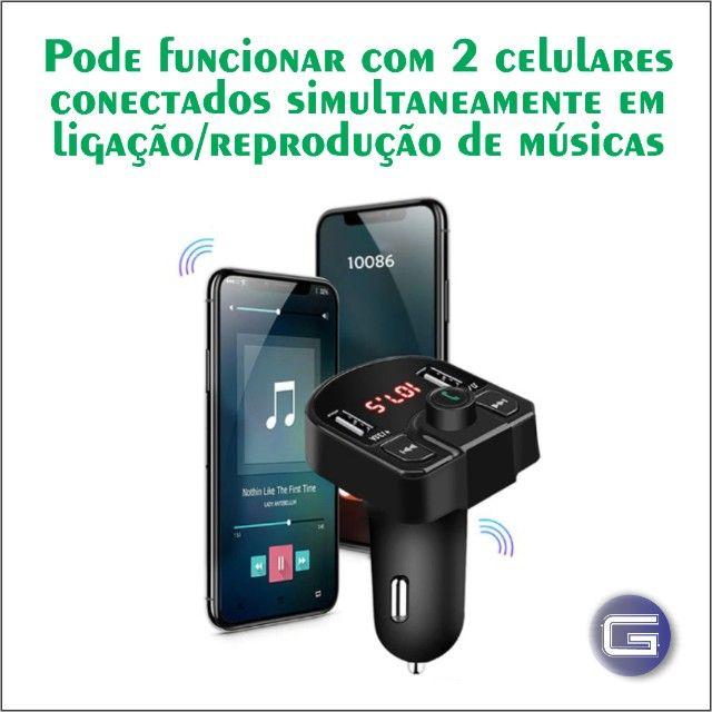 Transmissor Veicular Bluetooth FM - Foto 3