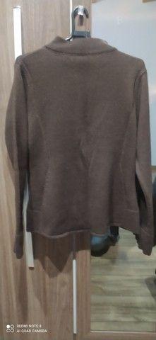 Casaco de lã marrom estilo terninho - Foto 5