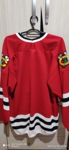 Camiseta chicago blackhawks Vintage hóquei - Foto 2