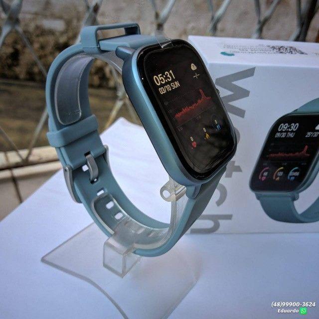 Relógio inteligente Smartwatch P8!!  monitor Cardíaco, sono, etc (NOVO) - Foto 4
