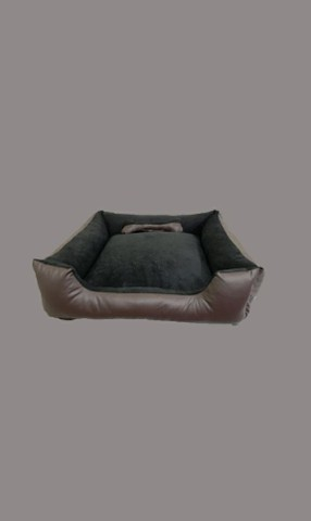 Cama Pet M 60x60 suede preto e corano marrom escuro impermeável  - Foto 3