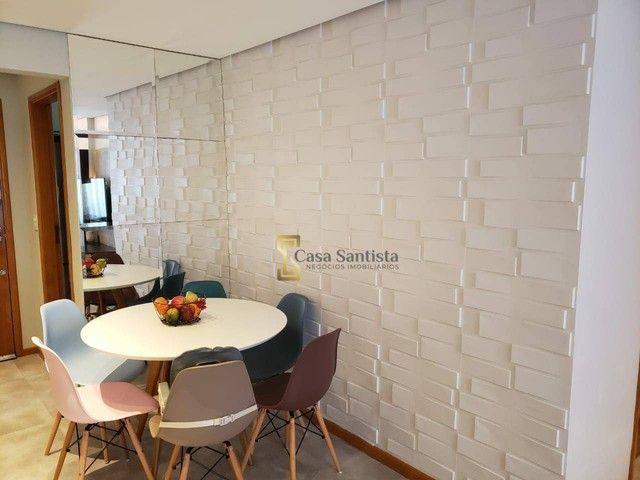 Apartamento com 2 dormitórios à venda, 70 m² por R$ 485.000,00 - Aparecida - Santos/SP - Foto 5