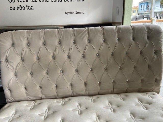 cama box + cabeceira - queen size - entrego - Foto 5