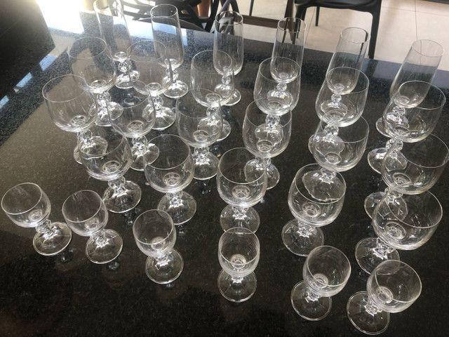 Jogo de 29 taças de cristal Bohemia Claudia - Foto 4