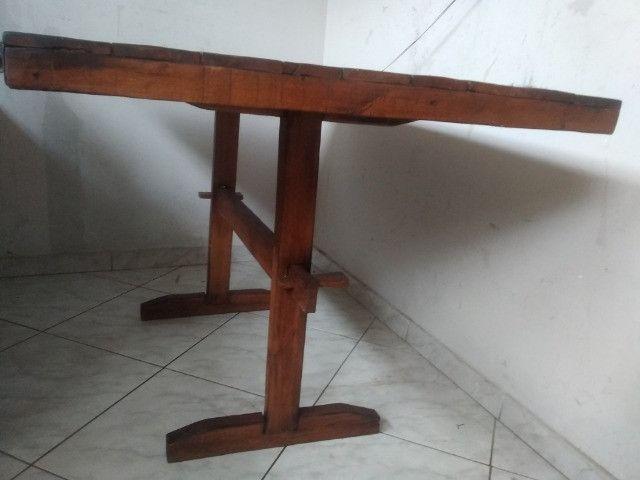 Mesa de madeira rústico - Foto 3