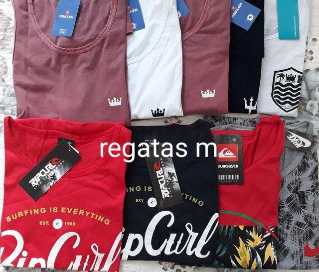 Camisas regatas tamanhos m/g/gg - Foto 2