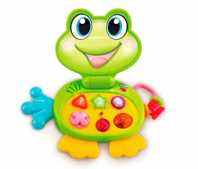 Laptop Brinquedo Baby Sapinho Infantil Com Sons E Luzes - Foto 2