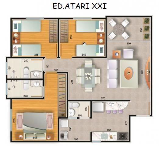 Apartamento à venda com 3 dormitórios em Jardim américa, Belo horizonte cod:1141 - Foto 2