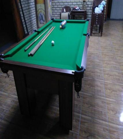 Mesa com Pedra de Ardósia Cor Dakar Tecido Verde Mod. BTFH9527
