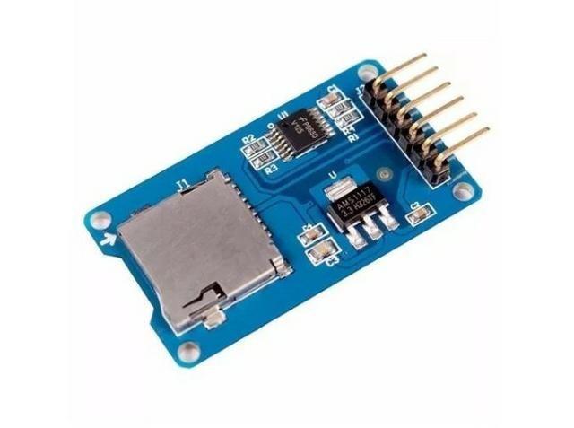 COD-AM50 Modulo Leitor Cartão Tf Micro Sd Spi Arduino - Automação - Robotica