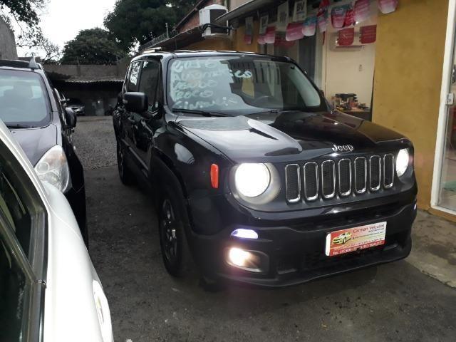 Jeep Renegade sport automatico ipva e transferencia gratis financiamos sem entrada 2016 - Foto 2