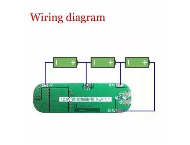 COD-AM147 Bms Placa 3s 12.6v 20a Li-ion Bateria De Lítio 18650 Arduino Automação Robot - Foto 3