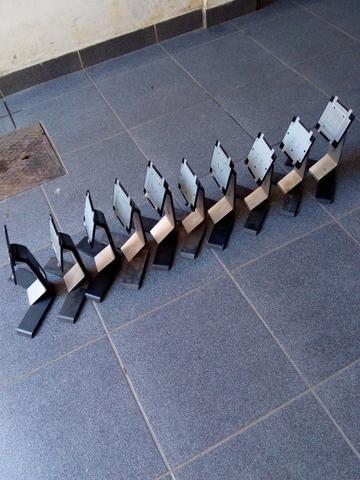 10 pes de monitores dell preto